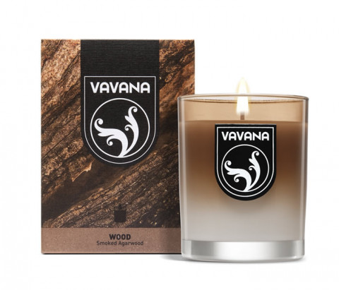 Vavana Scented Candle Wood Collection-Smoked Agarwood