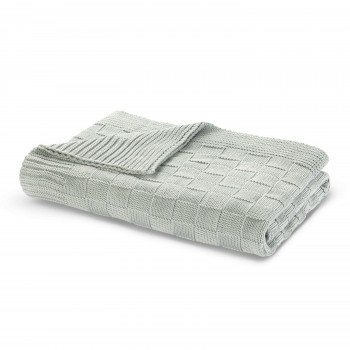 Allan Knit Throw 130x170-Seafoam-130x170 cm - 51x67 inch