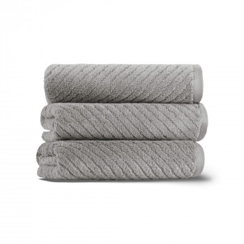 Chevron Set of Three Towel Set 40x71 Fibrosoft ®